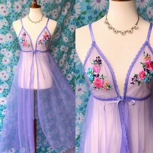 ISO Vintage Floral Fredericks Hollywood Nightgown